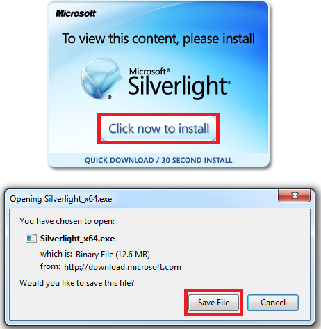 download silverlight content